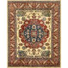 One-of-a-Kind Alayna Hand-Knotted Wool Red/Yellow Area Rug