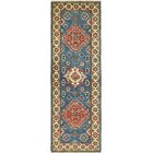 One-of-a-Kind Alayna Hand-Knotted Wool Beige/Blue Area Rug
