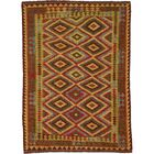 One-of-a-Kind Doorfield Hand-Knotted Wool 4'10