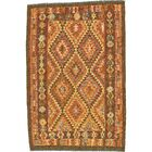 One-of-a-Kind Doorfield Hand-Knotted Wool 4'6