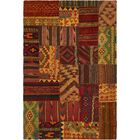 One-of-a-Kind Warrington Patchwork Hand-Knotted Wool Red Area Rug