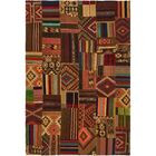 One-of-a-Kind Warrington Patchwork Hand-Knotted Wool Brown/Red Area Rug