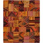 One-of-a-Kind Warrington Patchwork Hand-Knotted Wool Red/Orange Area Rug