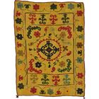 One-of-a-Kind Watchet Hand-Knotted Wool Gold/Red/Black Area Rug
