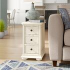 Dania Beach End Table with Storage� Color: Linen White