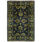 One-of-a-Kind Huntingdon Hand-Knotted  2' x 3' Wool Navy Blue/Green Area Rug