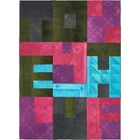 One-of-a-Kind Deeping Hand-Knotted Wool Pink/Green/Blue Area Rug