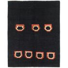 One-of-a-Kind Nash Hand-Knotted Wool Black Area Rug