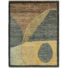 One-of-a-Kind Nash Hand-Knotted Wool Blue/Brown/Green Area Rug