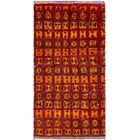 One-of-a-Kind Seaton Hand-Knotted Wool Red/Orange Area Rug