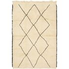 One-of-a-Kind Loughborough Hand-Knotted Wool Beige Area Rug