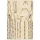 One-of-a-Kind Hoddesd Hand-Knotted Wool Beige Area Rug