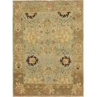 One-of-a-Kind Mart Hand-Knotted Wool Green/Brown Area Rug