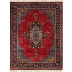 One-of-a-Kind Haltwhistle Hand-Knotted Wool Red/Blue Area Rug