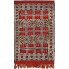 One-of-a-Kind Newark Hand-Knotted Wool Red/Beige Area Rug