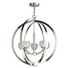 Heavner 5-Light LED Globe Chandelier Shade Pattern: Mercury Crystal Ball, Finish: Nickel