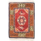 One-of-a-Kind Jettie Antique Hand-Knotted Wool Red/Orange Area Rug