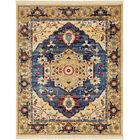 Rumsey Blue Area Rug Rug Size: Rectangle 8' x 10'