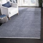 Redbrook Hand-Tufted Cotton Navy Area Rug Rug Size: Rectangle 3