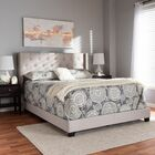 Anner Upholstered Panel Bed Size: Queen, Color: Light Gray