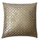 Bromyard Leather/Suede Throw Pillow Color: Gold/Beige