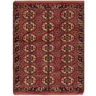 One-of-a-Kind Tekke Hand-Knotted Wool Puce Area Rug