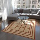 One-of-a-Kind Denver Hand-Knotted Wool Cream/Red Area Rug