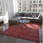 One-of-a-Kind Easton Hand-Knotted Wool/Silk Red Area Rug