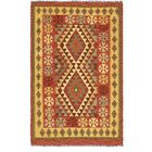 One-of-a-Kind Doorfield Hand-Knotted Wool 3' x 5' Red/Yellow/Green Area Rug