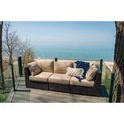 Darden Patio Sofa with Cushions Cushion Color: Sesame