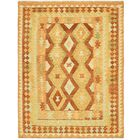 One-of-a-Kind Elland Hand-Knotted Wool Red/Yellow Area Rug