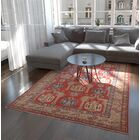 One-of-a-Kind Alayna Hand-Knotted Wool Blue/Red Area Rug