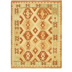 One-of-a-Kind Elland Hand-Knotted Wool Rust Red/Yellow/Green Area Rug
