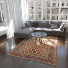 One-of-a-Kind Alayna Hand-Knotted Wool Beige/Blue/Red Area Rug