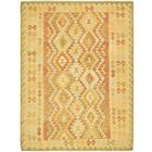 One-of-a-Kind Elland Hand-Knotted Wool Gold/Green Area Rug