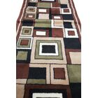Fordwich Hand-Tufted Green/Brown/Yellow Area Rug Rug Size: Runner 3' x 8'