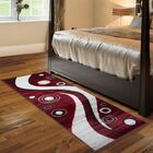 Karly Spotted Hand-Tufted Red/Black Area Rug Rug Size: Runner 3' x 8'