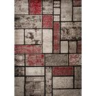 Margarita Hand-Knotted Black/Gray Outdoor Area Rug Rug Size: Rectangle 5' x 7'