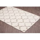 Waguespack Trellis Hand-Tufted Wool Cream/Beige Area Rug Rug Size: Rectangle 5' x 8'