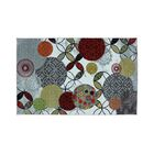 Rilla Floral and Geometric Pattern Red/Gray Indoor/Outdoor Area Rug Rug Size: Rectangle 5' x 8'