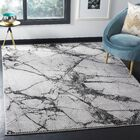 Kelly Gray/Black Area Rug Rug Size: Rectangle 8' x 10'