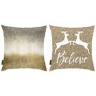 Cooke 2 Piece Believe Throw Pillow Set