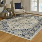 Payan Navy/Beige Area Rug Rug Size: Rectangle 7'10
