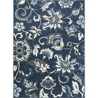Albion Power Loom Blue/White Area Rug Rug Size: Rectangle 7'2