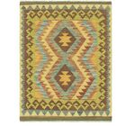 One-of-a-Kind Lorain Hand-Knotted 3' x 4' Wool Brown/Olive Area Rug
