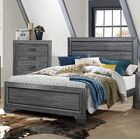 Henry Panel Bed Size: Queen, Color: Gray