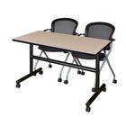 Vazquez Flip Top Mobile Training Table Size: 29