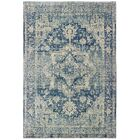 Pateros Distressed Medallion Ivory/ Blue Area Rug Rug Size: Rectangle 5'3