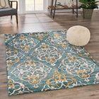 Ackerman Casual Shag Blue Area Rug Rug Size: Rectangle 5'3