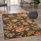 Acevedo Vintage Floral Brown Area Rug Rug Size: Rectangle 5' x 7'6
